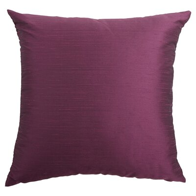 Chambray Plain Silk Throw Pillow Size: 18x18