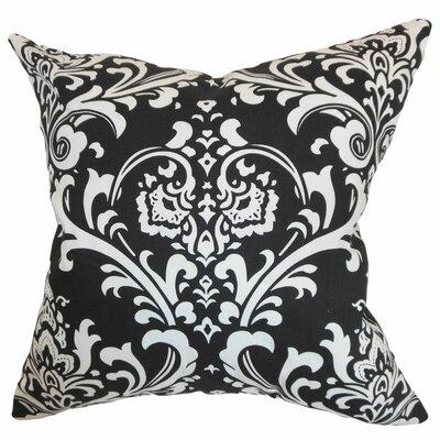 Stellan Cotton Throw Pillow Color: Black, Size: 18x18