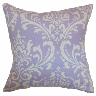 Clarabelle 100% Cotton Throw Pillow Color: Wisteria, Size: 18x18