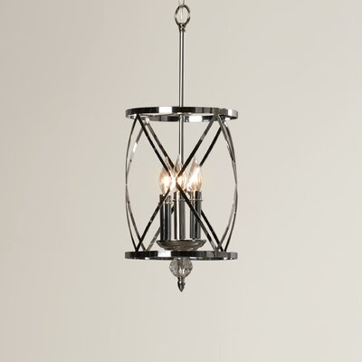 Arik 3-Light Pendant Finish: Chrome