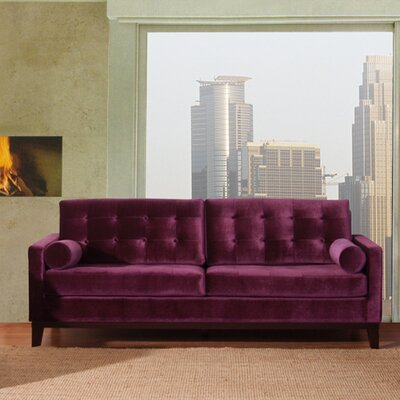 Mangerite Loveseat Color: Purple