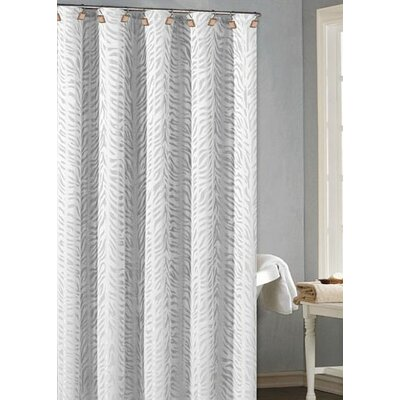 Pietro Fabric Jacquard Shower Curtain Color: White