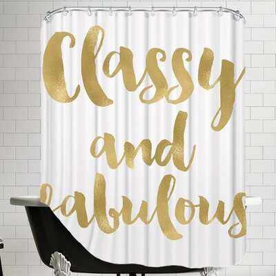 Bismuth Classy Fabulous Gold Shower Curtain