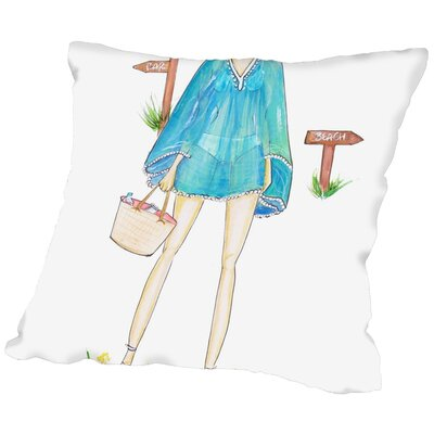 Alison B Beach Boho Throw Pillow