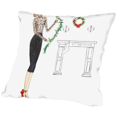Alison B Black Lace Throw Pillow