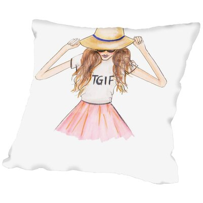 Alison B TGIF Throw Pillow Size: 20 H x 20 W x 2 D