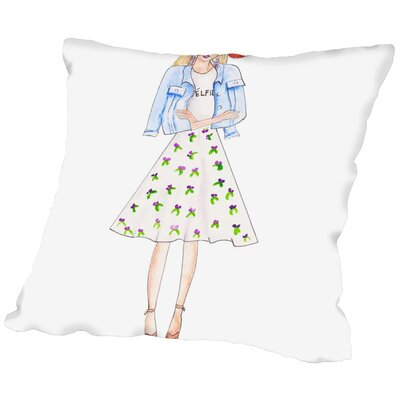 Alison B Boho Floral Throw Pillow