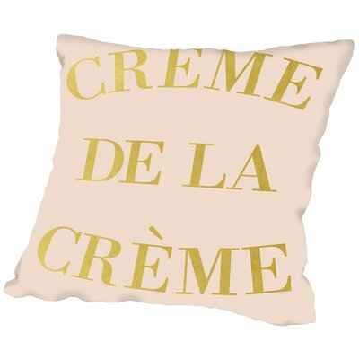Peach & Gold Cr�me De La Cr�me Throw Pillow Size: 16 H x 16 W x 2 D