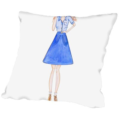 Alison B Double Denim Throw Pillow Size: 20 H x 20 W x 2 D