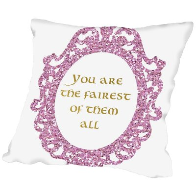 Peach & Gold You Are the Fairest of Them All Throw Pillow Size: 20 H x 20 W x 2 D