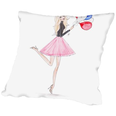Alison B Paris Balloons Throw Pillow Size: 16 H x 16 W x 2 D