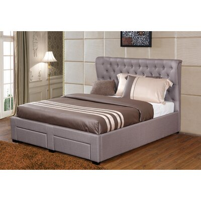 Lourenco Upholstered Storage Platform Bed Upholstery: Taupe, Size: California King