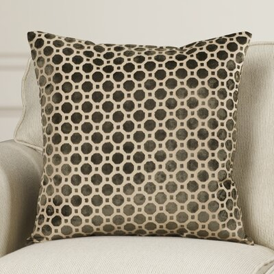 Alton Geometric Velvet Throw Pillow Color: Terrain, Size: 20 H x 20 W