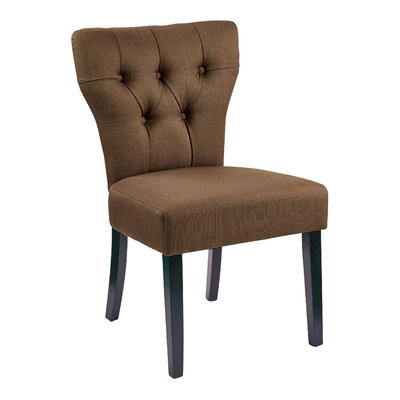 Alethea Side Chair Upholstery: Klein Otter