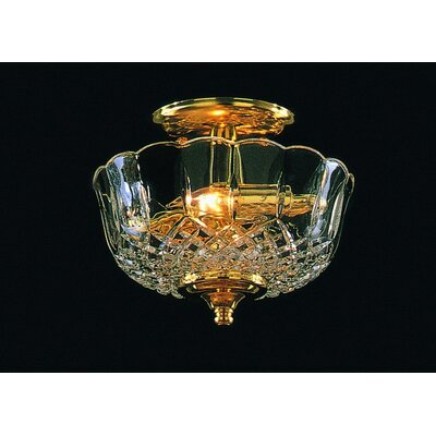 Aureolin 2-Light Semi-Flush Mount
