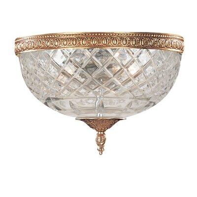 Aureolin 2-Light Flush Mount Finish: Olde Brass