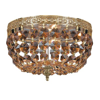 Aureolin 2-Light Flush Mount Crystal Grade: Hand Cut
