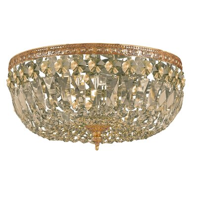 Aureolin 3-Light Flush Mount Crystal Grade: Swarovski