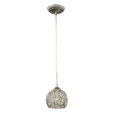 Goethe 1-Light Mini Pendant Finish: Aged Silver
