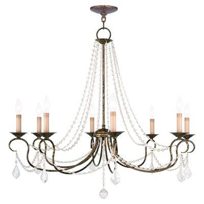 Devana 8-Light Candle-Style Chandelier Finish: Venetian Golden Bronze