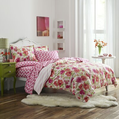 Pantelle Reversible Duvet Cover Set Size: Full / Queen