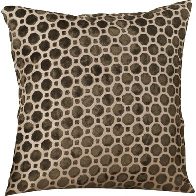 Carlie Velvet Throw Pillow Color: Terrain, Size: 20 H x 20 W