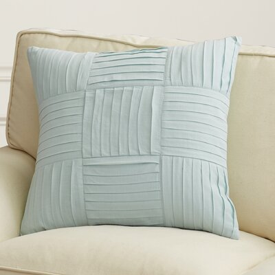 Holden Throw Pillow Size: 18 H x 18 W x 4 D, Color: Sea Foam