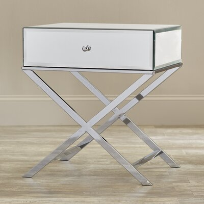 Tenenbaum End Table Finish: Chrome
