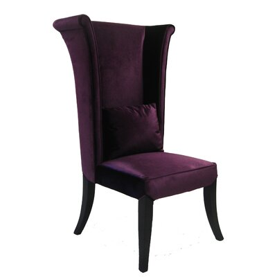 Dampicourt Wingback Chair Upholstery: Purple