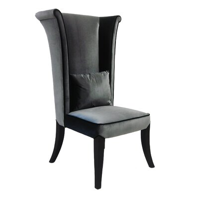 Dampicourt Wingback Chair Upholstery: Grey