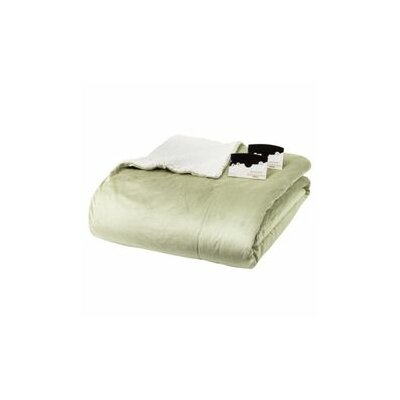 Crombach Heated Knit Blanket Color: Sage, Size: Queen