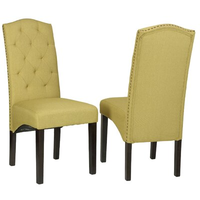 Imane Camelback Parsons Chair (Set of 2)
