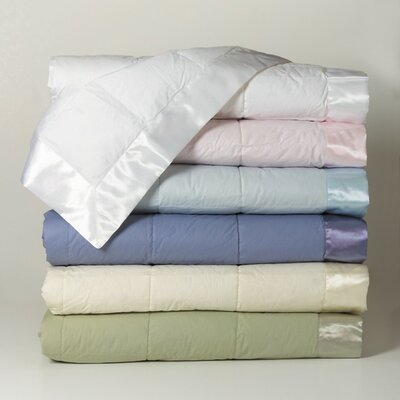 Rouveroy Synthetic Filled Cotton Throw Blanket Size: Petite, Color: Sea Glass