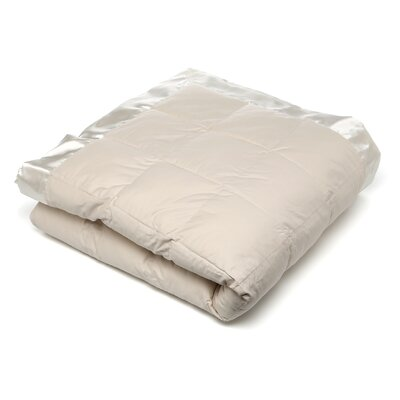 Rouveroy Synthetic Filled Cotton Throw Blanket Size: Twin, Color: Creme