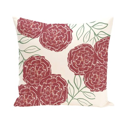 Birness Flower Throw Pillow Size: 18 H x 18 W, Color: Ivory / Rust