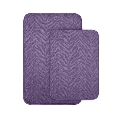 Argentia Bath Rug Color: Purple