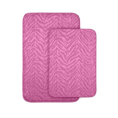 Argentia Bath Rug Color: Pink