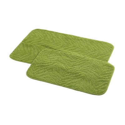 Argentia Bath Rug Color: Lime Green