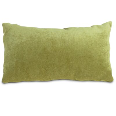 Edwards Velvet Lumbar Pillow Color: Apple - Green