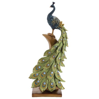 Irish Styled Peacock D�cor Figurine HOHN4526 43007723