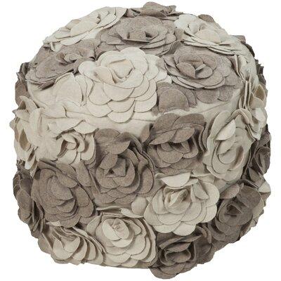 Cornimont Pouf Ottoman Color: Parchment/Cobble Stone