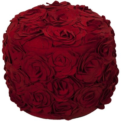 Cornimont Pouf Ottoman Color: Venetian Red