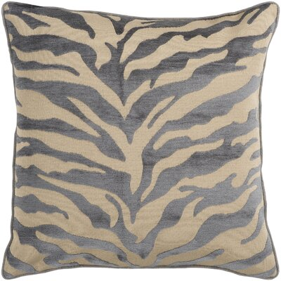 Arrigo Eye-Catching Zebra Throw Pillow Size: 22 H x 22 W x 4 D, Color: Gray / Beige, Filler: Down