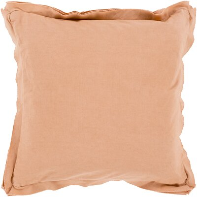 Anastagio Polyester Cotton Throw Pillow Size: 20 H x 20 W x 4 D, Color: Salmon