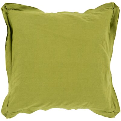 Cornesse Down Cotton Throw Pillow Size: 22 H x 22 W x 4 D, Color: Olive
