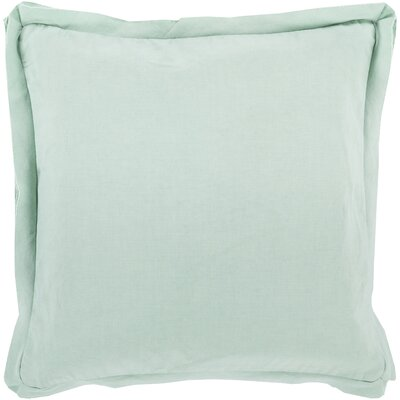 Cornesse Down Cotton Throw Pillow Size: 18 H x 18 W x 4 D, Color: Slate Green