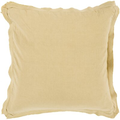 Anastagio Down Cotton Throw Pillow Size: 18 H x 18 W x 4 D, Color: Magenta
