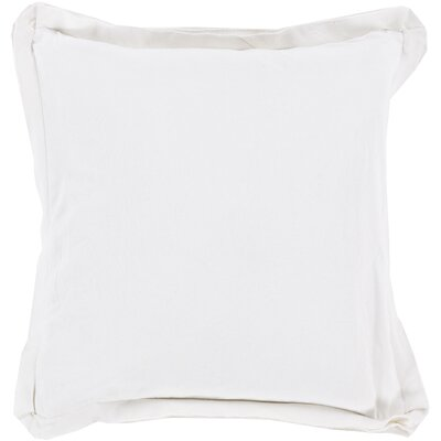 Cornesse Polyester Cotton Throw Pillow Color: Ivory, Size: 20 H x 20 W x 4 D