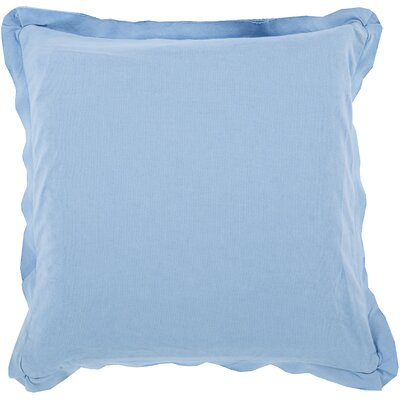 Cornesse Polyester Cotton Throw Pillow Size: 18 H x 18 W x 4 D, Color: Slate Blue