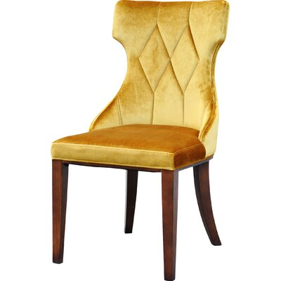 Sutherland Leather Side Chair Upholstery: Velvet - Antique Gold